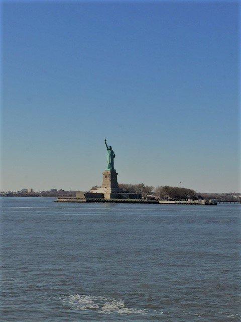 vrijheidsbeeld vanuit Staten island ferry